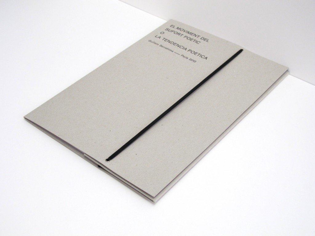 'Suport poètic' by Guillem Serrahima